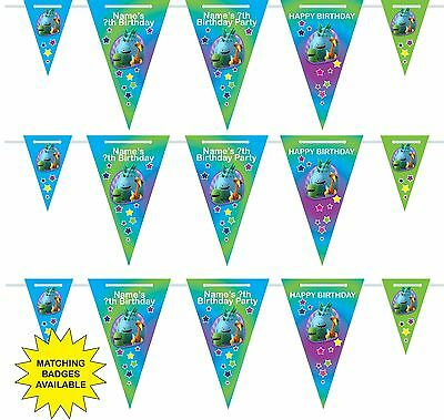 Personalised Dinopaws Birthday Bunting Display Banner 3m-15 pendants, name/age