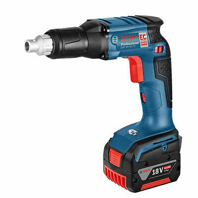 New Bosch GSR 18 V-EC TE Brushless Drywall Drill 2 x 4.0ah L-Boxx (1887)
