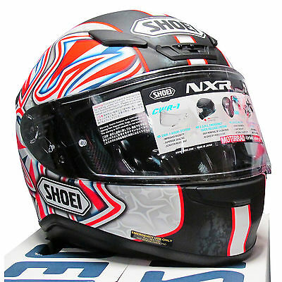 Shoei NXR Shane Shakey Byrne Replica Full Face Motorcycle Motorbike Crash Helmet
