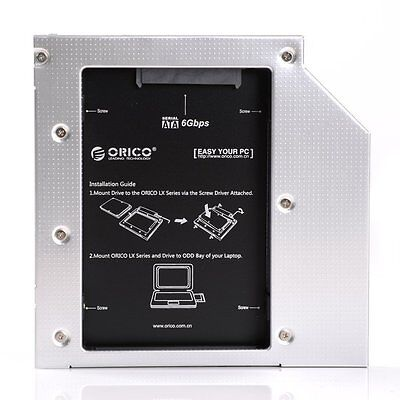 ORICO Laptop Aluminum SATA3.0 Hard Drive or SSD Caddy Tray Fit 7/9.5/12.5mm