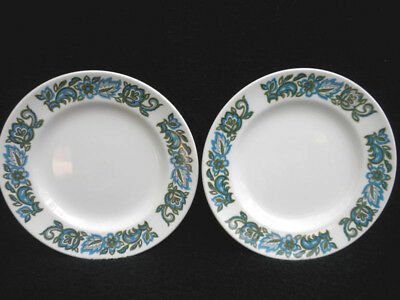 Ridgway Bread Side Plate x 6 Aristocrat Pattern Retro 1960s Ironstone 7in Vtg