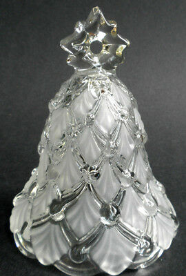 Mikasa Winter Dreams Christmas Bell Clear & Frosted Glass 5.75in Germany
