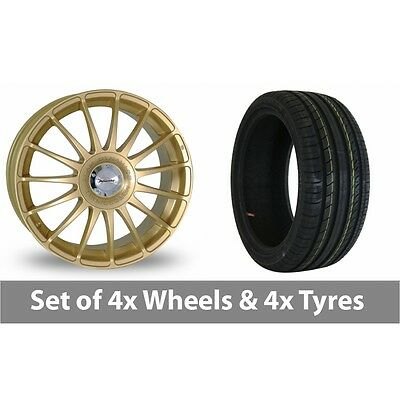 """4 x 18"""" Team Dynamics Monza R Gold Alloy Wheel Rims and Tyres -  225/40/18"""