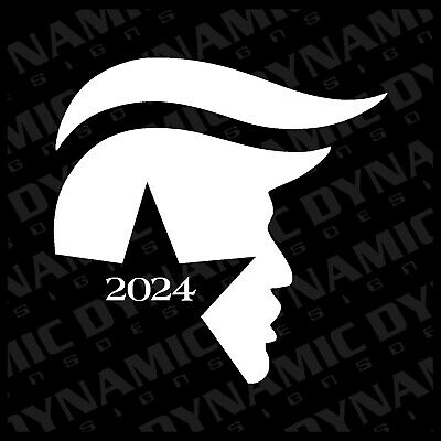 Large Donald Trump 2020 sticker president Hair USA election vinyl window decal