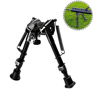 "Heavy Duty 6-9"" Adjustable Spring Fold Shooting Stick Bipod for Hunting Rifle"