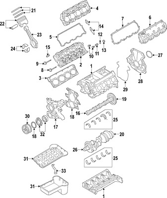 Ford F250 6 0l Diesel Powerstroke Engine Exhaust Valve Rocker Arm