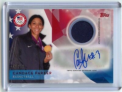 2016 Topps Olympic Candace Parker Relic Auto!!! 40/50!!!