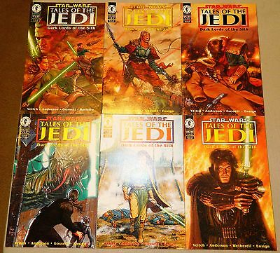Star Wars Tales Of The Jedi Dark Lords Of The Sith 1 2 3 4 5 6 Comics Set 1994