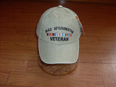 U.s. Army Military Iraq Afghanistan Veteran Hat Embroidered  Ball Cap