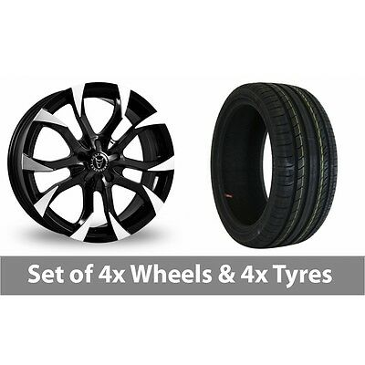 "4 x 15"" Wolfrace Assassin Black Polished Alloy Wheel Rims and Tyres -  195/65/15"