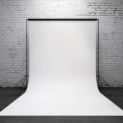 3x5ft White Thin Vinyl Photography Wall Backdrop Background Studio Photo Props