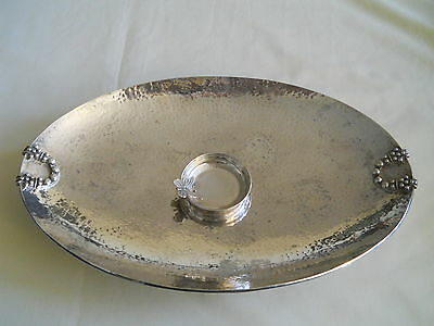 """Hand Tooled Turkish 925 Sterling Tray 12"""" 8"""" 393 Grams"""