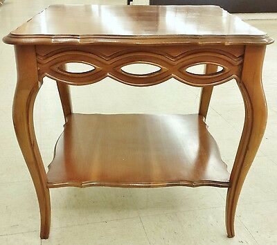Bassett French Provincial Maple Nightstand Accent End Side Lamp Table
