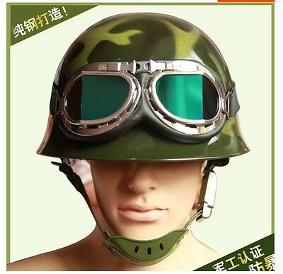 Chinese Military Protective Camouflage CS field Safety Steel Helmet With glasses