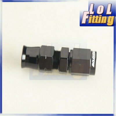 "AN -6 ( 6AN AN6 ) Straight Female To 3/8"" Tube Adapter Fitting Black"