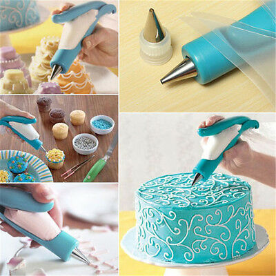 Pastry Icing Piping Bag Nozzle Tips Cake Decorating Pen DIY Cooking Tool KIT