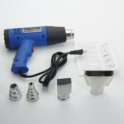1500W 110V Hot Air Gun Heat Hand Hold Dual-Temperature 4 Nozzles Power Tools