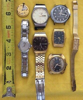 VINTAGE watch lot Seiko citizen Timex dynabeat haverhills girard perregaux