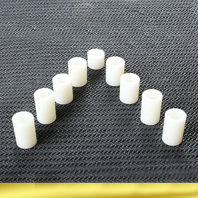 100X White Plastic Nylon Non-Threaded Standoff Spacer Washer M3 M4 M5 M6 8 Screw