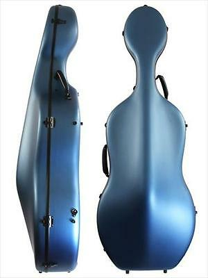 Orchestra Light 4/4 Cello Hard Case, Composite Carbon Fibre, MATT BLUE **NEW**