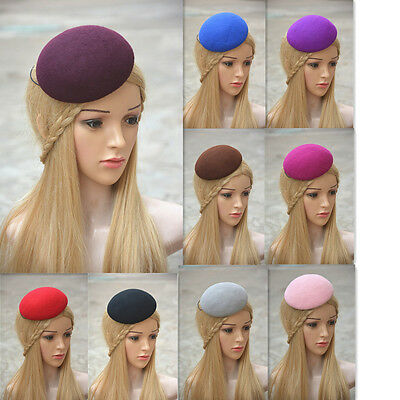"Womens 5.5"" Circle Wool Felt Millinery Hat Base  Fascinator Craty Supply A263"