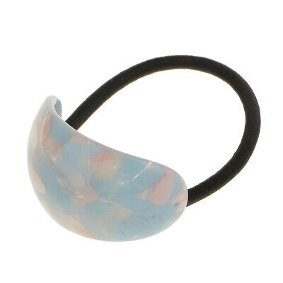 Acrylic Semicircle Leopard Print Strong Elastic Hair Band Ties Accessory 3Colors