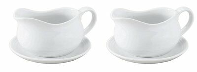 HIC 24-ounce Porcelain Hotel Gravy Boat with Saucer (KH0MW5LPT00PP00) Package 2