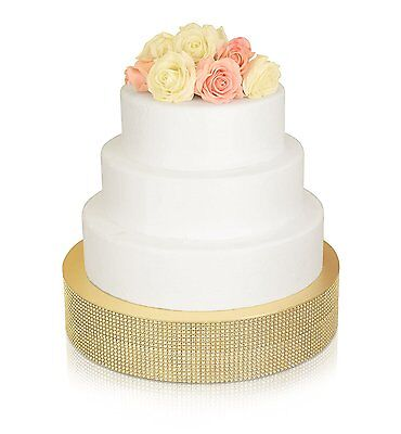 Bling, Wedding Cake Stand/ Drum (16'' Round, Silver) NEW