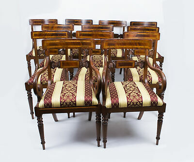 Splendid Set of 12 Regency Style Dining Chairs Armchairs • £4,500.00