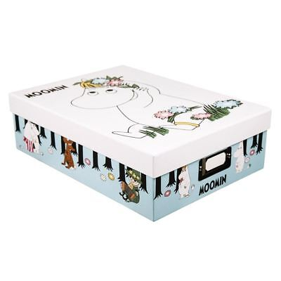 Official The Moomins Design A4 Storage Box - School College Home Vintage Retro