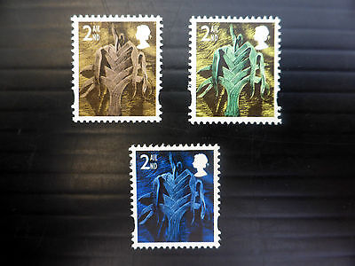 GB WALES 2nd Class Unissued Trial Colours U/M (3) NEW PRICE FP7552
