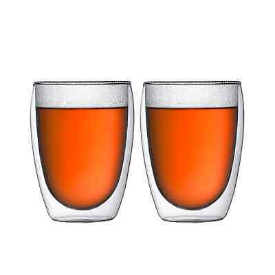 NEW Bodum Pavina 2pc Double Wall Glasses 350ml