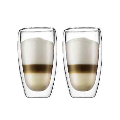 NEW Bodum Pavina 2pc Double Wall Glasses 450ml
