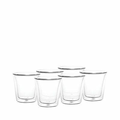 NEW Bodum Canteen 6pc Double Wall Glasses 100ml (RRP $60)