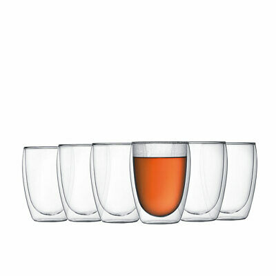 NEW Bodum Pavina 6pc Double Wall Glasses 350ml (RRP $90)