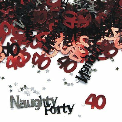 Naughty 40 40Th Birthday Confetti - Table Decoration Party Sprinkles - 14G
