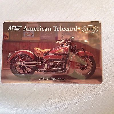 """Two ATX collector phone cards 1937 Inline Four Indian glossy """"Indian"""""""