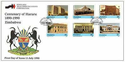 Zimbabwe 1990 The 100th Anniversary of the City of Harare FDC