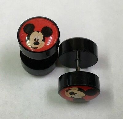 MICKEY MOUSE - Disney FAKE CHEATER Looks Like 10mm Ear Plugs