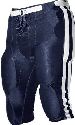 Save!! NWOT Alleson Athletic Adult 657SL Dazzle Football Pant Size Large Navy