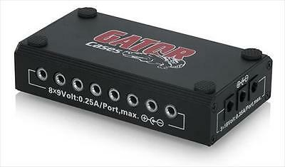 Gator G-BUS-8-UK Multi-Output DC Power Source For Electric Guitar Pedals **NEW**