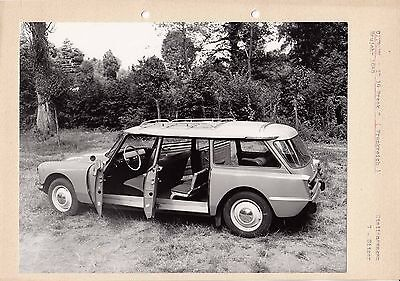 Citroen Id 19 Break Circa 1959 Modell Photograph, Pasted To Card.