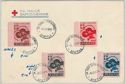 57237 - POSTAL HISTORY: GERMAN OCCUPATION of SERBIA on COVER - RED CROSS 1941