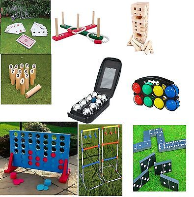 Garden Lawn Bbq Party Games Giant Tumble Tower/connect 4 In A Row/quoits/smite