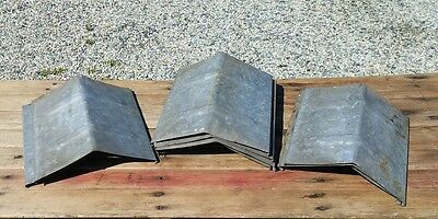 4 OLD Sap Bucket COVERS LIDS PEAKED ROOF TOP Maple Syrup Ready To Use PATINA!