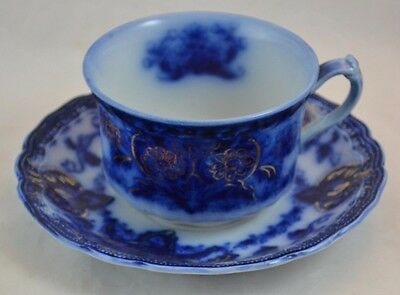"""Wood & Son Flow Blue """"Seville"""" Cup and Saucer Set Beautiful #3"""