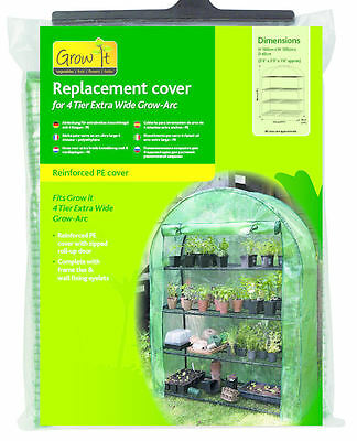 Gardman 4 Tier Extra Wide Grow Arc Cover - Reinforced Replacement Cover 08974