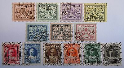1929 Vatican Used Stamp Set Signed*