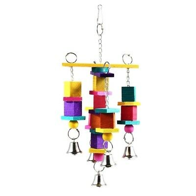 Bird Toy Parrot Snap Wooden Bells Swing Ladder