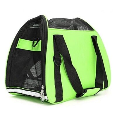 Pet Carry Bag Traveling Pack with Mat   Green